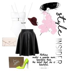 """""""#HowIWearPolyvore"""" by styleninja94 on Polyvore featuring La Perla, MuuBaa, Christian Louboutin, GUESS, contestentry and styleinsider"""