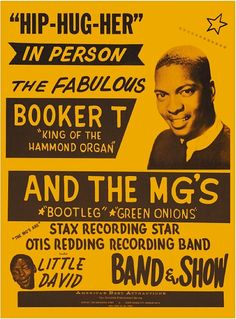Classic Booker T & The MG's Concert Poster