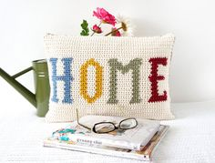 Home Cushion Pattern Crochet PDF Tutorial Home by LittleDoolally