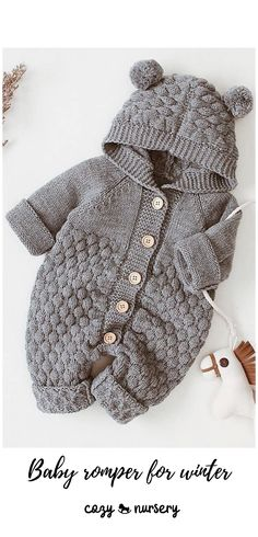 Knitted Baby Outfits, Knitted Baby Clothes, Knitted Romper, Cute Baby Clothes, Baby Knits, Knit Baby Sweaters, Baby Boy Knitting Patterns, Baby Cardigan Knitting Pattern, Knitting For Kids