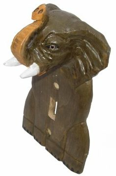 Wooden Elephant Switchplate at theBIGzoo