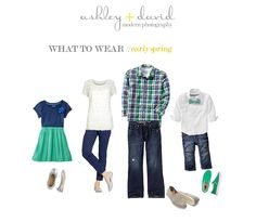 What To Wear Family Pictures 2013 | What to Wear Wednesday - Spring Edition | Ashley + David Photography