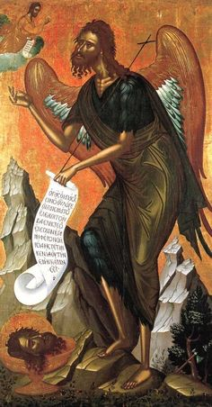 Orthodox icons / Icons of John the Baptist Byzantine Icons, Byzantine Art, Religious Icons, Religious Art, Greek Icons, Saint Jean Baptiste, Christian Artwork, Russian Icons, Best Icons