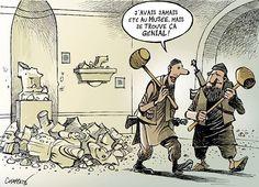 L'ironie et l'humour sont parmi les meilleures armes contre la barbarie.... par notre dessinateur Patrick Chappatte