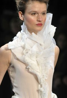 Beautifully ruffled textures and extension - romantic fashion design details // Christophe Josee