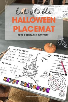 Perfect for a party for lunch at school or even just dinner on Halloween these free printable Halloween Placemats are the best activity for kids of all ages! Halloween Placemats, Halloween Maze, Halloween Carnival, Halloween Crafts For Kids, Halloween Activities, Autumn Activities, Cute Halloween, Activities For Kids, Halloween 2020