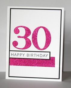 30th Birthday Card  Milestone Birthday  Custom  by GlitterInkCards, $4.25
