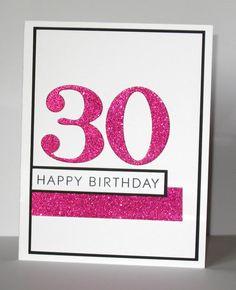 30th Birthday Card  Milestone Birthday  Custom  by GlitterInkCards, $4.25