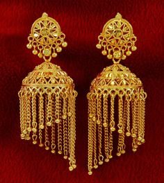 18k Goldplated Indian Bollywood Designer Jhumka Earring Ethnic Women Jewelry | eBay