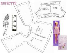 Barbie doll nightie free sewing pattern