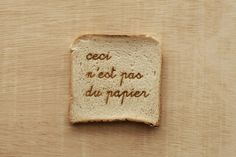 Laser engraving on bread - Figura/Sfondo Gravure Laser, Food Lab, Food Design, Creative Inspiration, Laser Cutting, Laser Engraving, Graphic Design, Ceilings, Typo