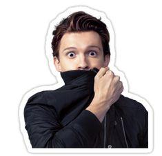 """Tom Holland"" Stickers by Breit Live Wallpaper Iphone, Man Wallpaper, Bubble Stickers, Cute Stickers, Toms, Aesthetic Stickers, Laptop Stickers, Sticker Design, Celebrity Crush"