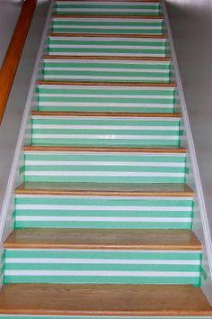 ideas para tunear o pintar las escaleras