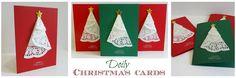 Doily Christmas cards