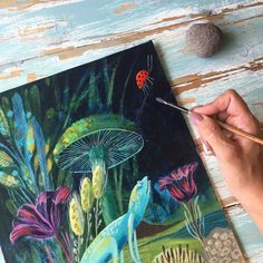 Nature illustrations by Sofia Moore
