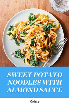 Meet swoodles, aka sweet potato noodles. Our dinner prayers have been answered. #sweetpotato #noodles #recipe Sweet Potato Recipes Healthy, Clean Eating Recipes, Whole Food Recipes, Vegetarian Recipes, Healthy Recipes, Healthy Food, Healthy Cooking, Easy Cooking, Vegan Vegetarian