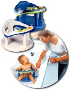 Baby Bath Ring Seat With Toy Rack and Water Splash Toys - FUN Blue ...