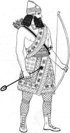 7. Assyrian Bowman costume