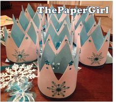 12 Twelve Handmade Frozen Inspired Snow Queen by ThePaperGirlbyANM, $60.00