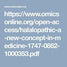 Halalopathic: A New Concept in Medicine Medicine, Pdf, Concept, News, Medical
