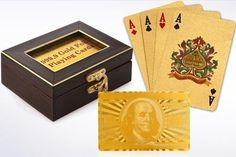 Gold Plated Playing Cards   Hundred Coupons