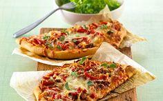 Pizza - af en rest spaghetti og kødsauce