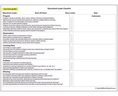 Educational Leader Checklist