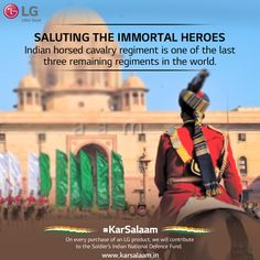 Indian Army is not only about technology but also has a rich military history. #KarSalaam these invincible warriors by sending them wishes at www.karsalaam.in and honour them.
