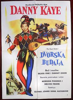 1955 Original Movie Poster The Court Jester Comedy Melvin Frank Danny Kaye