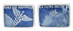 Flying Doctors 1958 silver plate and re-purposed stamp cufflinks Southern Cross Tattoos, Shell House, Designer Cufflinks, Australia Day, Kitsch, Doctors, Tea Towels, Drink Sleeves, Silver Plate