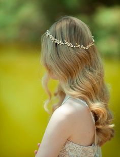 bridal Hair accessories , Brides Headpieces , Gentle Gold Leafs Hair Wreath , gold Leaf Crown , Wedding Headband , bridal accessories tiara on Etsy, £112.67