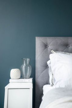 Rustige kleur combinatie van grijs, blauw en wit