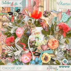 It's $2 Tuesday at #TheDigiChick and Choose Joy Kit by #SnickerdoodleDesigns is part of the deal.  Don't miss out.  This deal ends at midnight 4/19/16