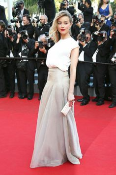 Amber Heard in Vionnet at the premiere of Two Days, One Night, Cannes 2014