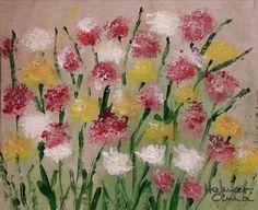 Virágtenger. Akvarell, karton.