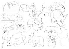Drawing Grid, Book Drawing, Comic Drawing, 2 Point Perspective Drawing, Animal Drawings, Art Drawings, Character Art, Character Design, Bear Art