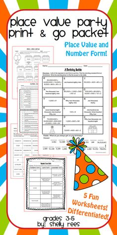 Place value worksheets, Place values and Worksheets on Pinterest