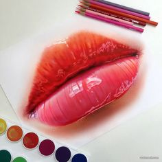 Pencil Drawing Tips lips color pencil drawing - Realistic Pencil Drawings requires a lot of practice to achieve the desired results. The tools which are required are some print-making paper or any paper which can soak up enough graphite, use the Realistic Pencil Drawings, Pencil Drawing Tutorials, Art Tutorials, Drawing Tips, Detailed Drawings, Drawing Ideas, Colored Pencil Drawings, Drawing Pictures, Sketch Drawing