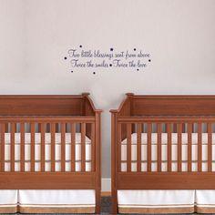 Nursery Vinyl Wall Art For Twins by Katazoom on Etsy, $24.99