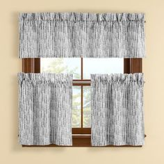 Boulder Window Curtain Tier Pair - BedBathandBeyond.com