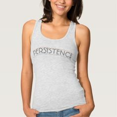 Persistence Slim Fit Racerback Tank Top - classy gifts custom diy personalize