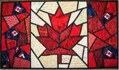 This year I remembered to put up my Maple Leaf quilt in time for July The label tells me I made this wall-hanging in It was an e. Small Quilt Projects, Quilting Projects, Quilting Designs, Sewing Projects, Quilting Ideas, Diy Projects, Flag Quilt, Quilt Blocks, Paper Piecing