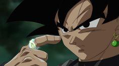Black Goku y el anillo de tiempo (logo timebreaker)