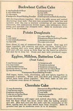 Daily Good: Depression Era Recipes Frugal and Delicious Retro Recipes, Old Recipes, Vintage Recipes, Cookbook Recipes, Cake Recipes, Dessert Recipes, Cooking Recipes, Family Recipes, Skinny Recipes