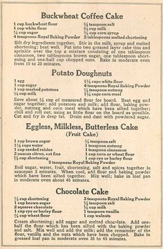 Buckwheat Coffee Cake • Potato Doughnuts • Eggless, Milkless, Butterless Cake • Chocolate Cake