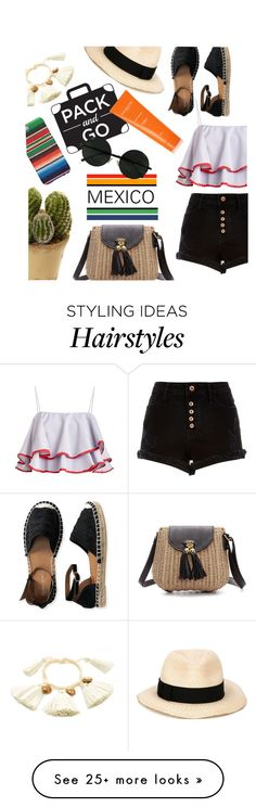 """""""pack and go : Mexico City"""" by agnesfrs on Polyvore featuring Nearly Natural, River Island, Eugenia Kim, Aéropostale, Sachajuan, mexico, Packandgo and mexicocity"""
