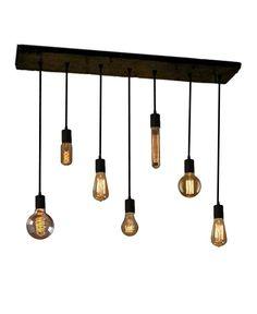 7 Pendant Industrial Chandelier Edison Bulb Pendant lights Urban Chandelier Reclaimed Wood Rustic lighting Modern Dining chandelier