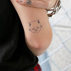 Dimitri - Tattoo Dimensions: 2 x 2 inchesPart of our Official Inkbox+Post Malone Collection Inkbox Tattoo, Poke Tattoo, Real Tattoo, Piercing Tattoo, Tattoo Drawings, Dainty Tattoos, Baby Tattoos, Cute Tattoos, Beautiful Tattoos