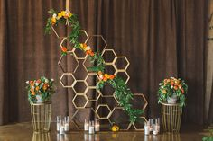 Birds of a Feather Events - Dallas/Fort Worth - modern altar - geometric altar - honeycomb