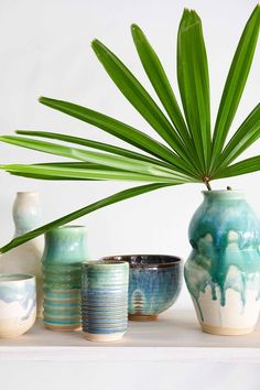 turquoise, blue and green painted ceramic vases and bowls Best Boutique Hotels, Ceramic Houses, Eco Friendly House, Plastic Waste, How To Make Homemade, Home Fragrances, House Colors, Luxury Homes
